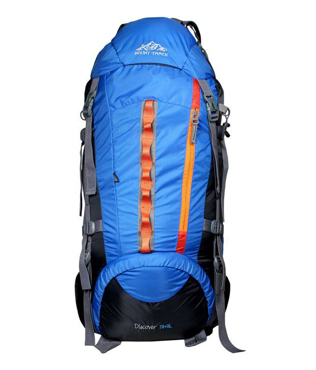 Mount Track Discover 9107 Rucksack, Hiking Backpack 75 Ltrs Neon Blue  available at snapdeal for Rs.2199