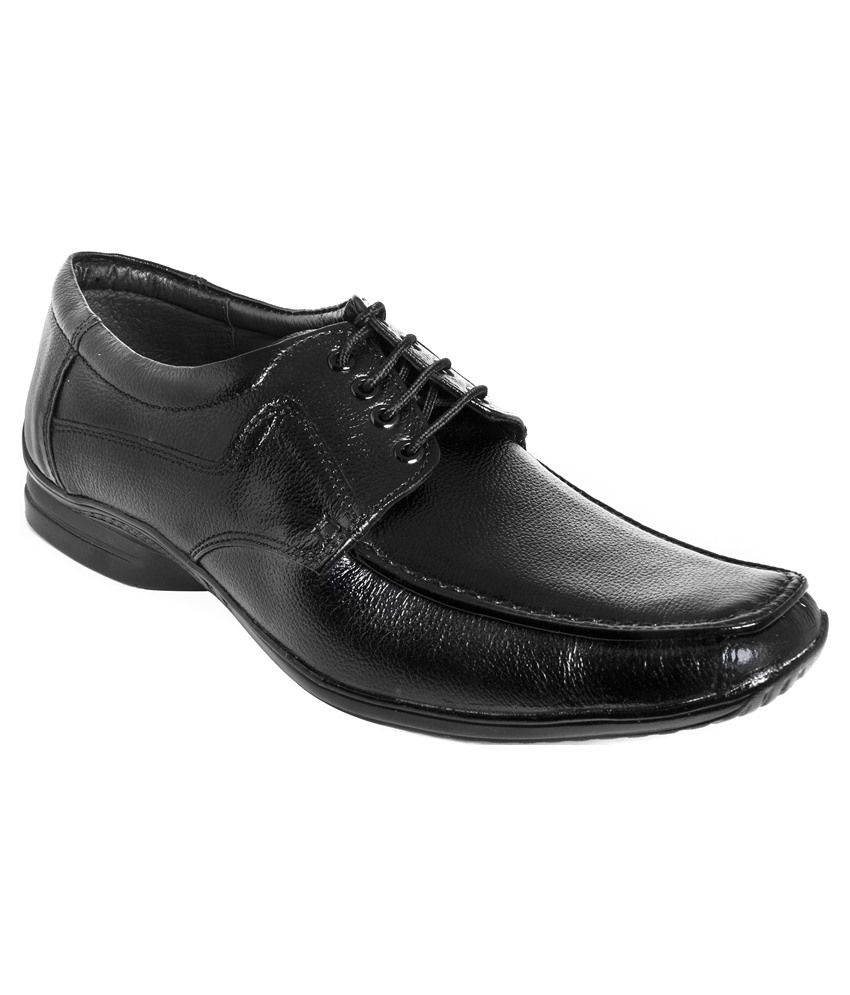 buy azazo black formal shoes for snapdeal