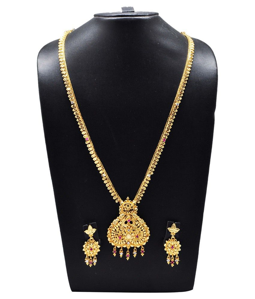 5a74504cafb1e Kalyani Covering Golden Traditional Necklace Set