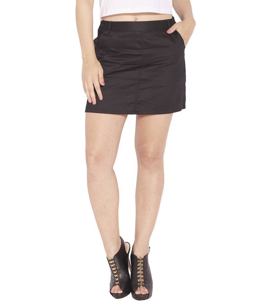 buy globus black cotton a line skirt at best prices