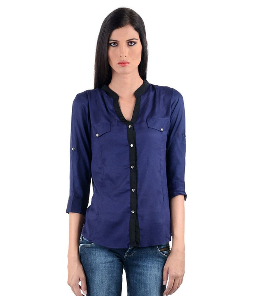 Buy Jaavelin Blue Cotton Shirts Online At Best Prices In