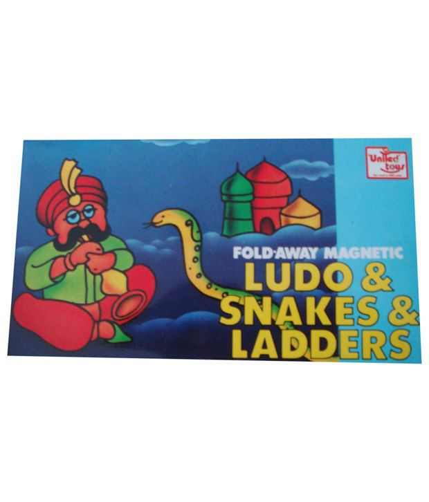 United Toys Multicoloured Fold Away Magnetic Ludo, Snakes & ladder Game  available at snapdeal for Rs.149