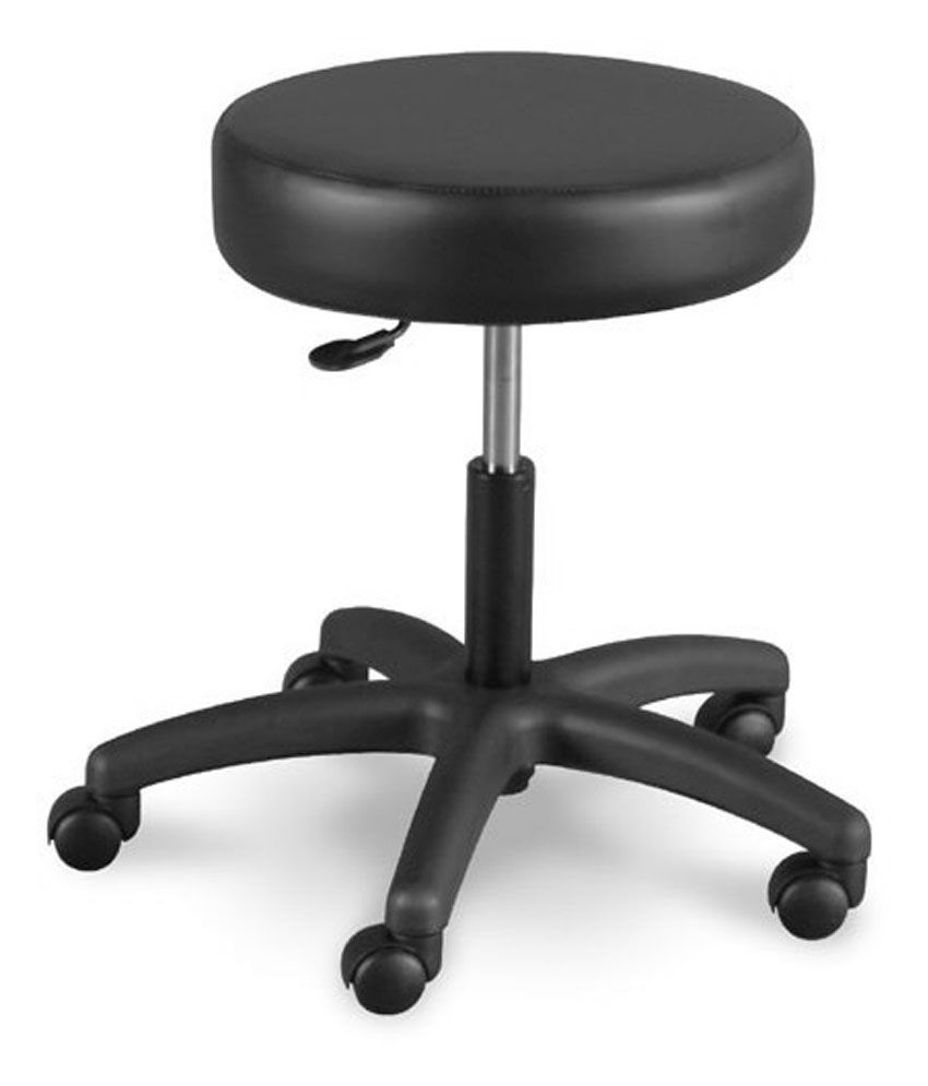 Solid Wood Bar Stool In Black