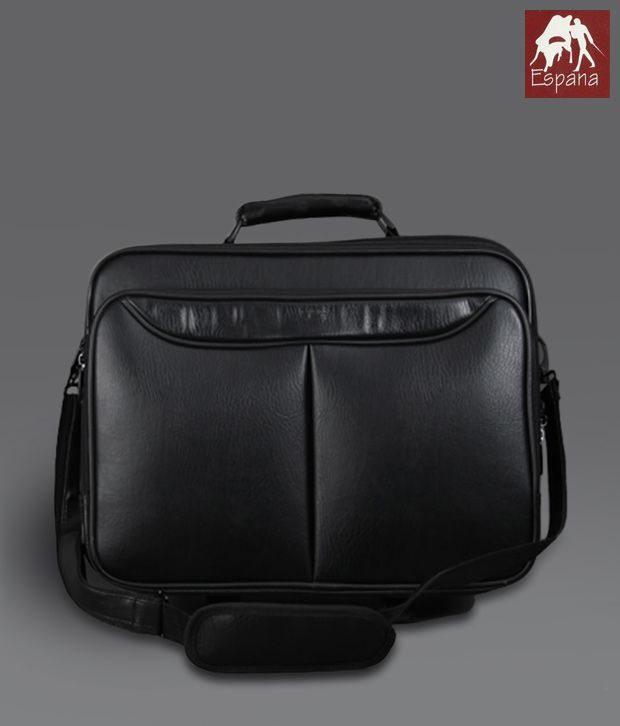 Espana Classy Black Travel Trolley Bag