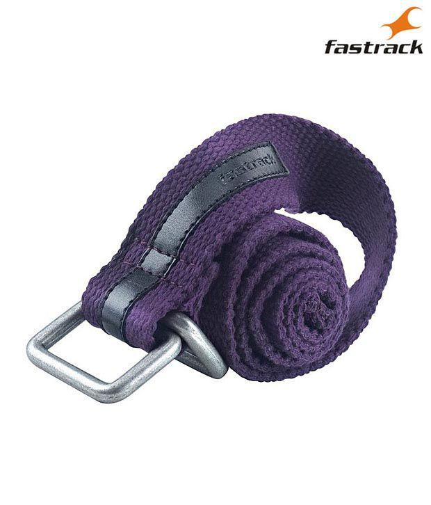 Fastrack Cool Purple Woven Canvas Belt