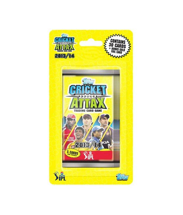 Topps IPL 2013 Cricket Attax 6 Pack Blister ( 30 Cards Pack)