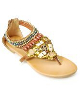 Sant Ethnic Brown Flat Sandals