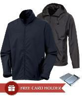 Monsuun Pack Of 2 Black-Navy Rain Jackets With Free Card Holder
