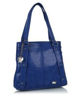 Butterflies BNS0262 Blue Casual Tote Bag