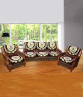 JBG Home Store Luxury Brown  5 Seater Sofa Cover Set