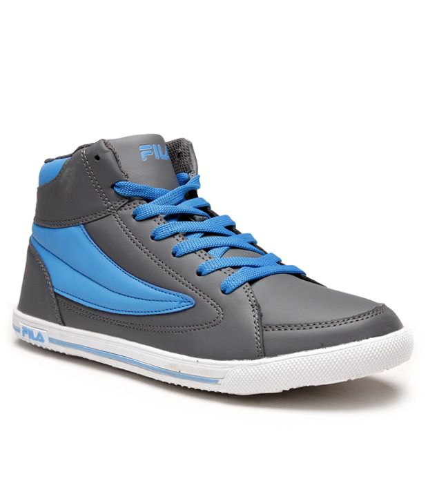 Fila Grey High Ankle Length Sneakers  available at snapdeal for Rs.2299