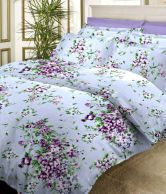 Bombay Dyeing Mistyrose Light Blue Polycotton Bedsheet and two pillow cover