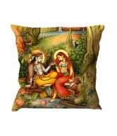 Style Engine Radha Krishna Printed Cushion Cover