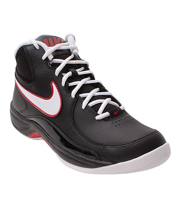 Nike Overplay Black & White Basketball Shoes  available at snapdeal for Rs.2561