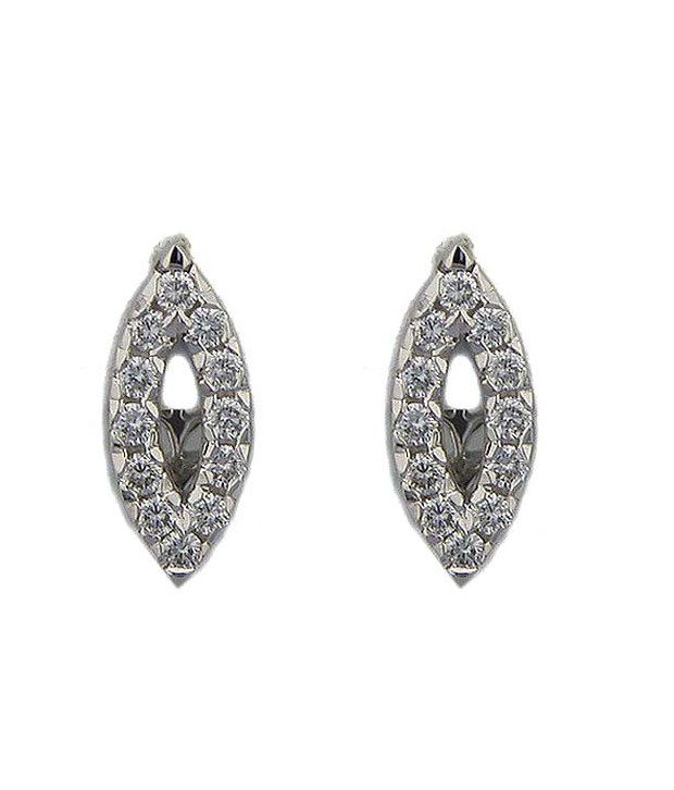 Bling Bling 0.28Ct. Diamond 18Kt Gold Marquise Studs (Yellow)