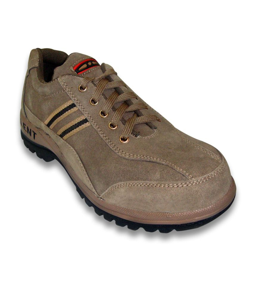 JK PORT MEN TALENT BEIGE LEATHER SAFETY SHOE available at SnapDeal for Rs.749