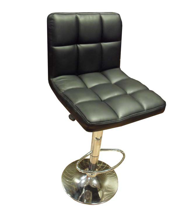 Majestic Crome Finished Leatherite Bar Chair