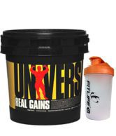Universal Nutrition Real Gain Instant Body Weight/Mass Gainer Chocolate 6.85 Lbs + Free Shaker Worth 300 Rs.