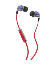 Skullcandy Smokin Bud 2 S2PGGY-391 In Ear Earphones with Mic (Red and Blue) With Mic