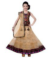 Sarrah Beige Designer Lehenga Choli Sets For Girls