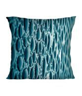 Active Elements Blue Natural Polyester Cushion With Cover