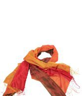 Rathi Orange Silk Plain Dupatta