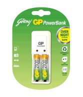 Godrej GP Power Bank With 2 Pcs AA 2100 MAh Battery (Pack Of 5)