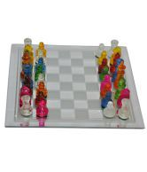 Rainbow Adishwar Rainbow Glass Chess
