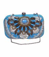 Handicraft Maheswari Handicraft Blue Women Designer Hand Bag