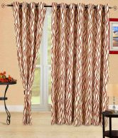 Cortina Ivory Contemporary Polyester Door Curtain With Window Curtain (set Of 4)