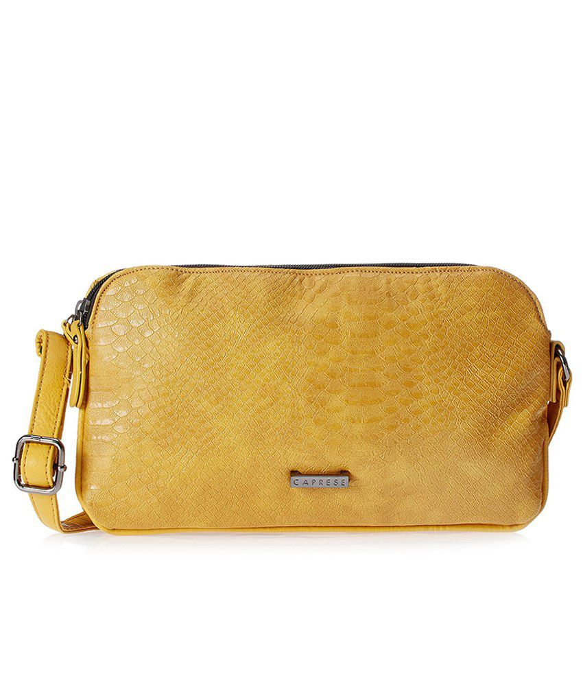 f5c5f06d839 Buy Caprese Hazel Medium Mustard Sling Bag on Snapdeal