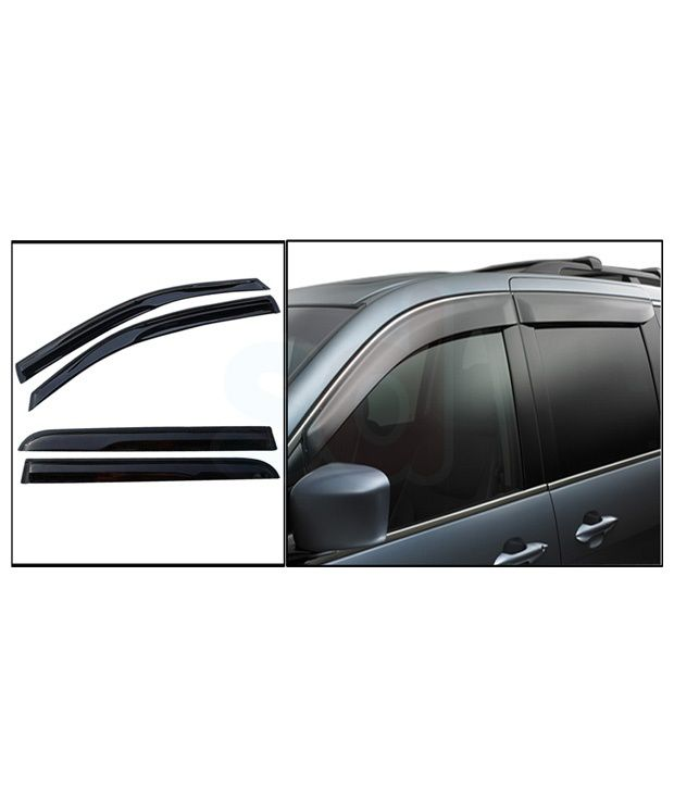 Rosario Maruti Alto 800 Car Rain / Wind / Door Visor Side Window Deflector - Set Of 4 Pieces  available at snapdeal for Rs.999