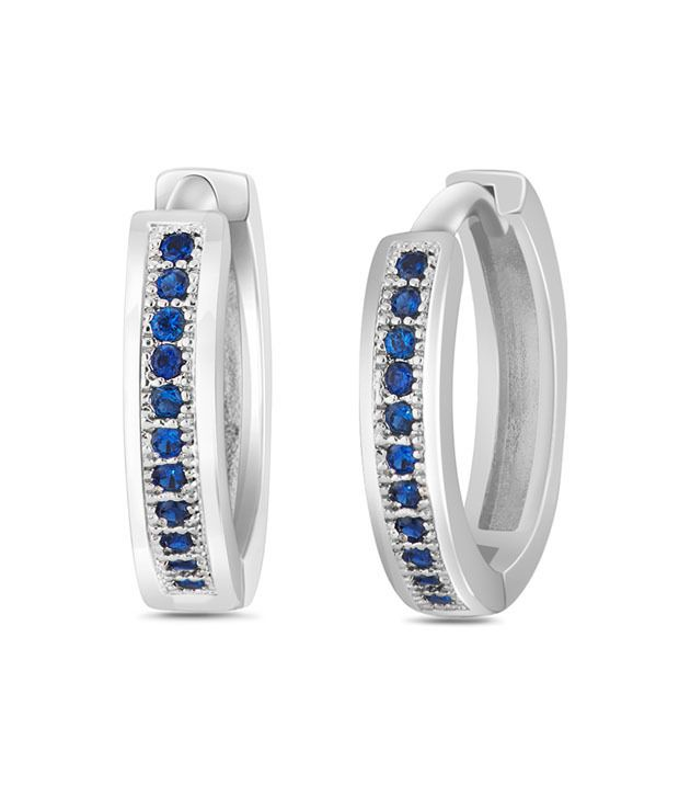 aabf7b7f7 71% OFF on Mahi Chic Rhodium Plated Blue Cz Stone Hoops Earrings on  Snapdeal | PaisaWapas.com