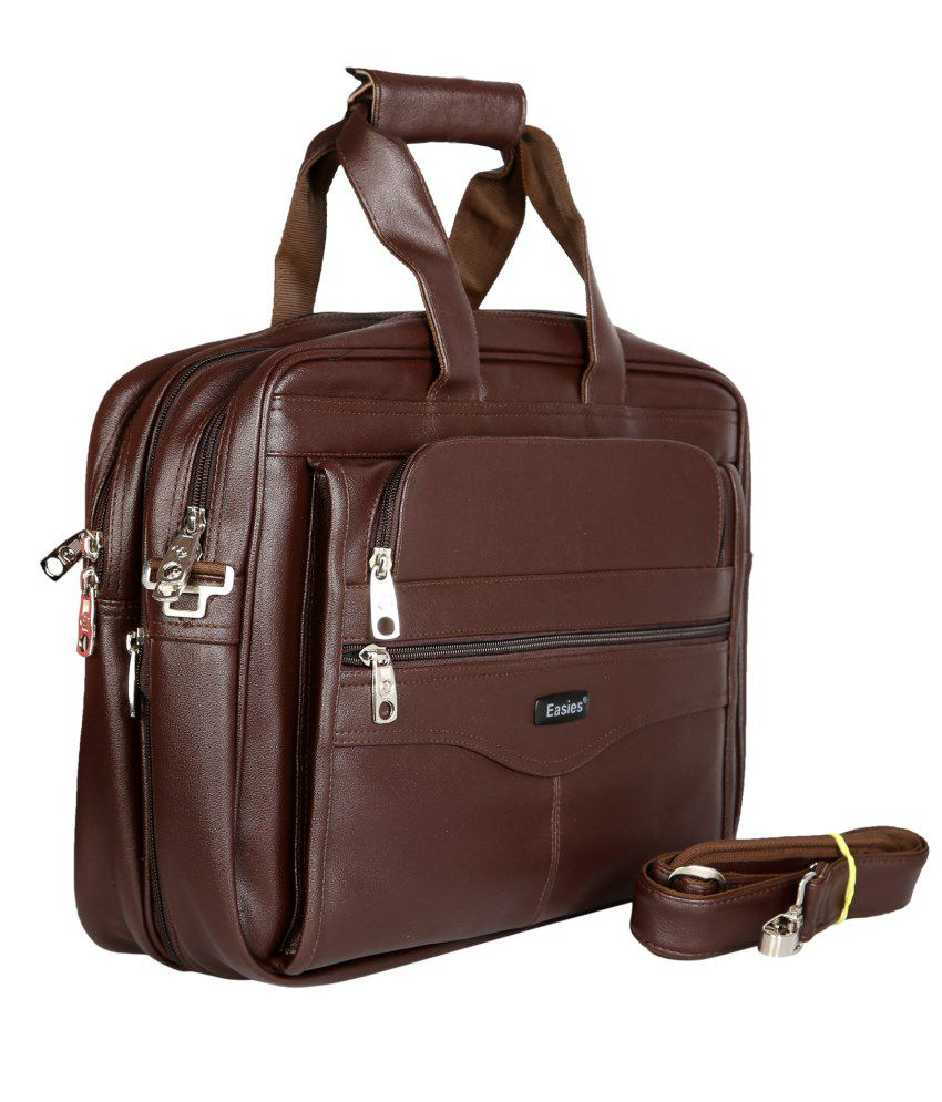 Easies Brown Light Weight Executive Office Bag