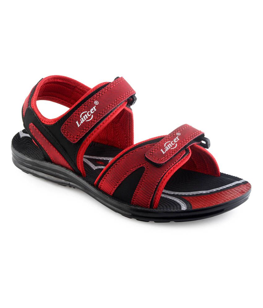 Lancer Multicolour Synthetic Leather Velcro Floater Sandals  available at snapdeal for Rs.379