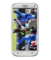 Vox V5555 Four Sim Touch Screen Mobile With Dual Camera - White