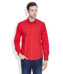 United Colors of Benetton Red Regular Fit Casual Shirt