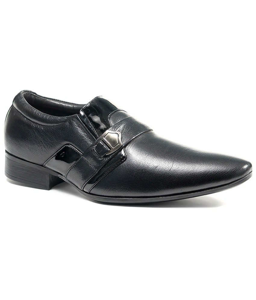 bellbut black leather formal shoes price in india buy