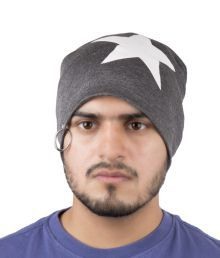 Noise Gray Cotton Skull Cap