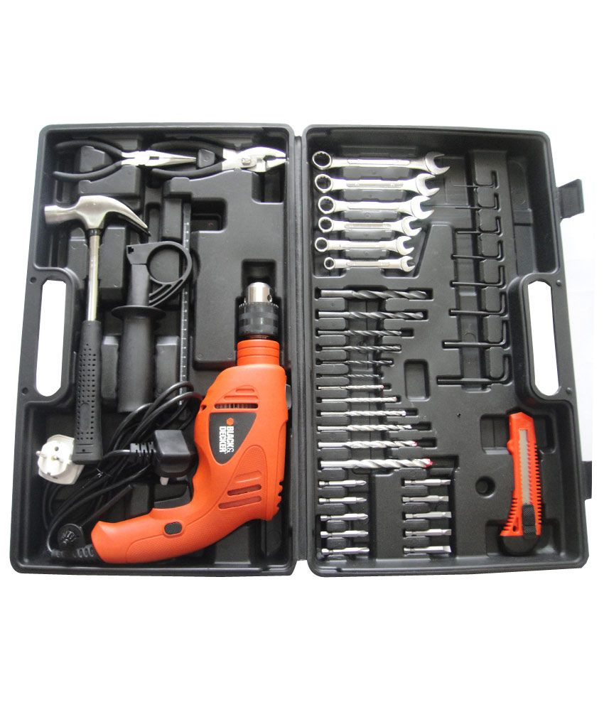 Black & Decker HD5513KA40 13mm 550W VSR Hammer Drill Kit with 40 Accessories
