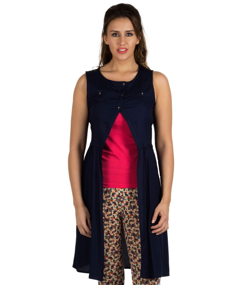 Get best deal for 109 F Navy Round Neck Sleeveless Shrugs at Compare Hatke