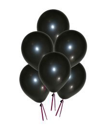 Grandshop 50264 Balloons Metallic Hd Finish Black (pack Of 50)