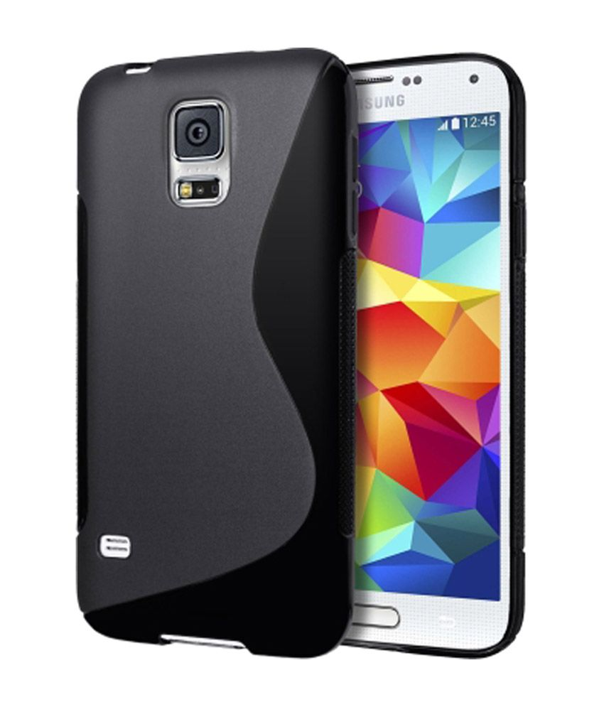 s case back cover for samsung galaxy s5 mini black. Black Bedroom Furniture Sets. Home Design Ideas