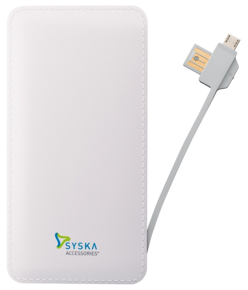 Syska Power Vintage 6000 Mah Power Bank   White available at SnapDeal for Rs.1517