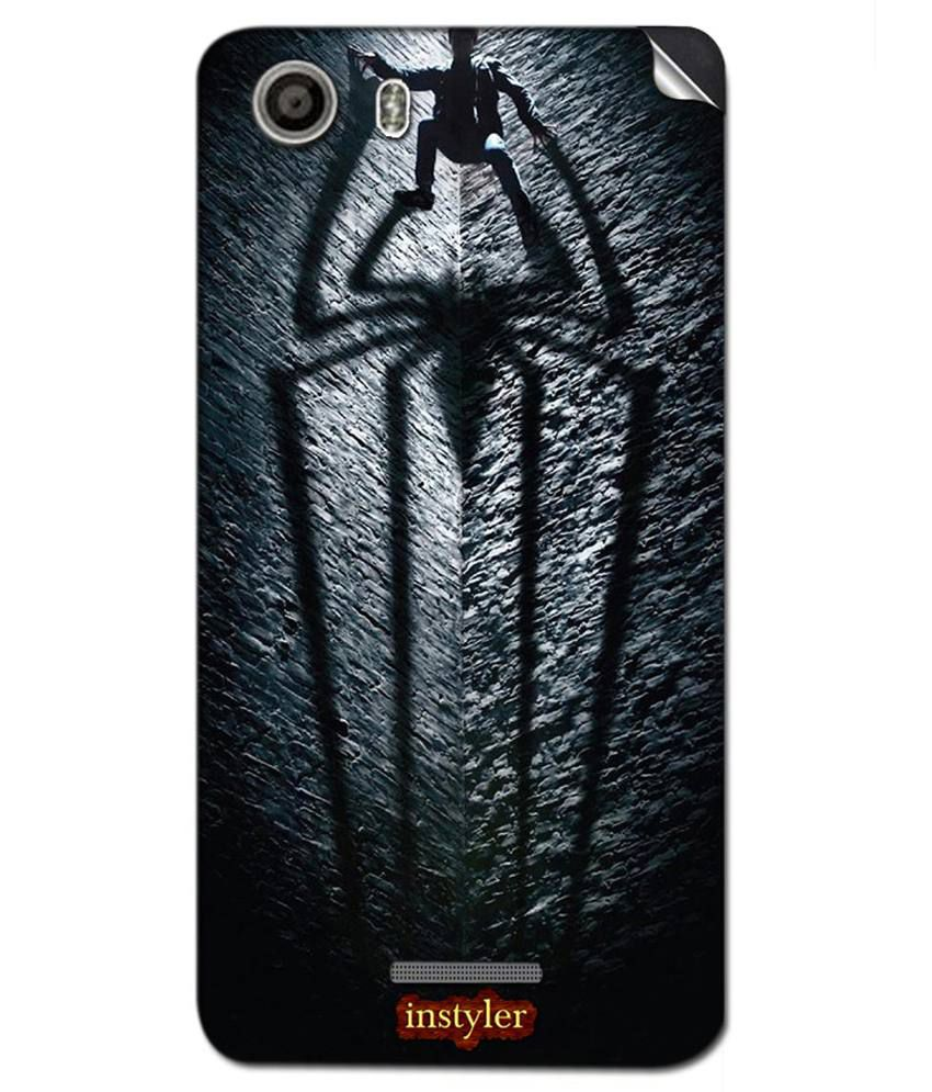Instyler Mobile Back Sticker For Micromax Canvas Spark   Grey available at SnapDeal for Rs.399