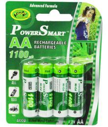 Power Smart 1100 MAh AA NICD Rechargable Battery- Pack Of 4