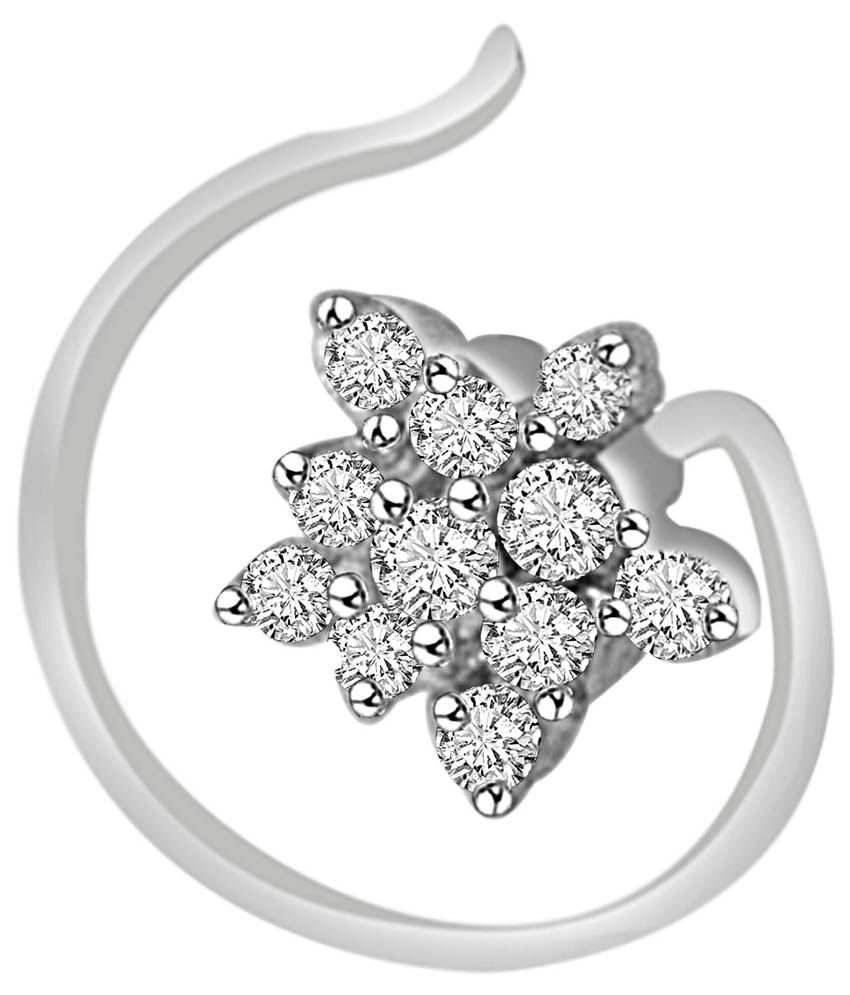 Vijisan 92.5 Sterling Silver Nose Ring at snapdeal
