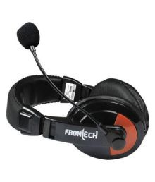 Frontech 3442 Headset with Mic Headset with Mic Black