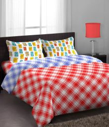 Stellar Home Multicolor Cotton Single Bedsheet