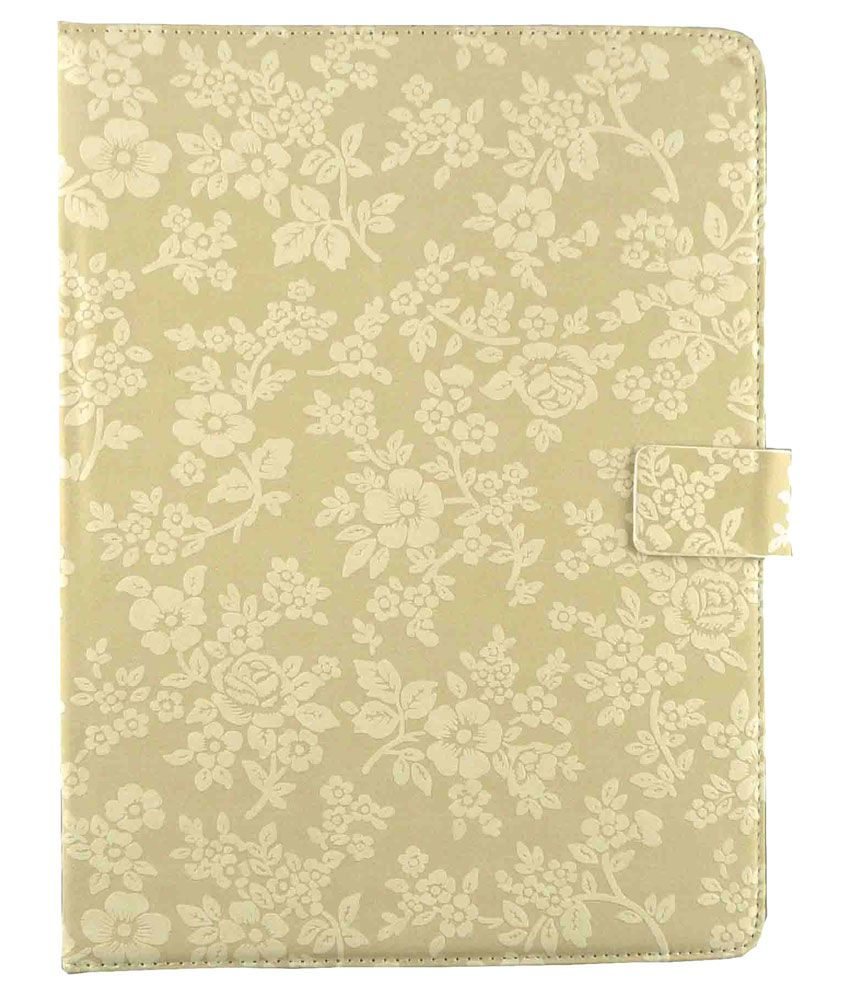 Iball 3g Q45 Flip Cover By Emartbuy   Beige available at SnapDeal for Rs.750